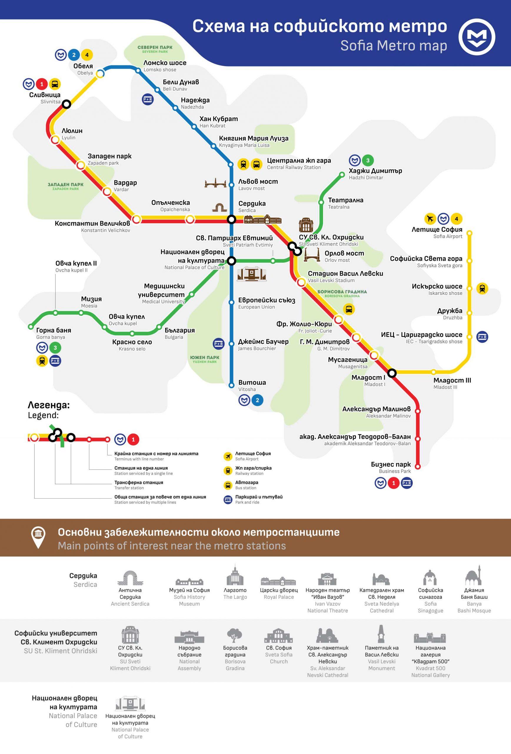 The Metro in Sofia